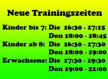 Trainingszeit
